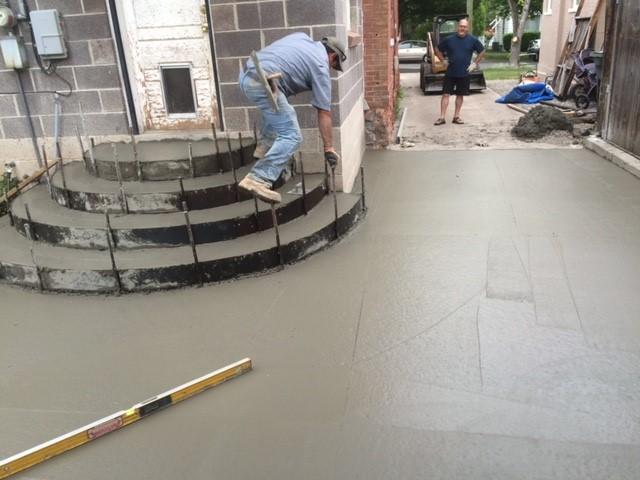 Concrete Paver Finisher : Concrete finishing utah miller paving